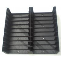 Black Tray for 20 Cassette Tapes in cases (2x10)