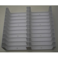 White Tray for 20 Cassette Tapes in cases (2x10)