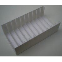 Black or White Tray for 10 Cassette Tapes in cases (1x10)
