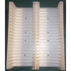 White Tray for 40 MiniDiscs in cases (2x20)