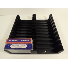 Tray for 20 Playing/Poker card decks (2x10)
